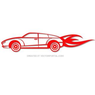Red Car Clip Art Free Vector