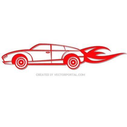 Red Car Clip Art Free Vector