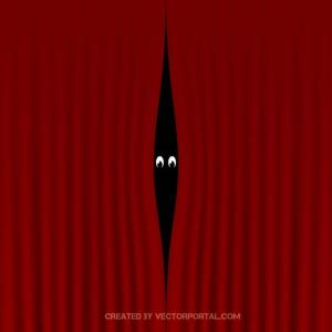 Red Curtain Illustration Free Vector