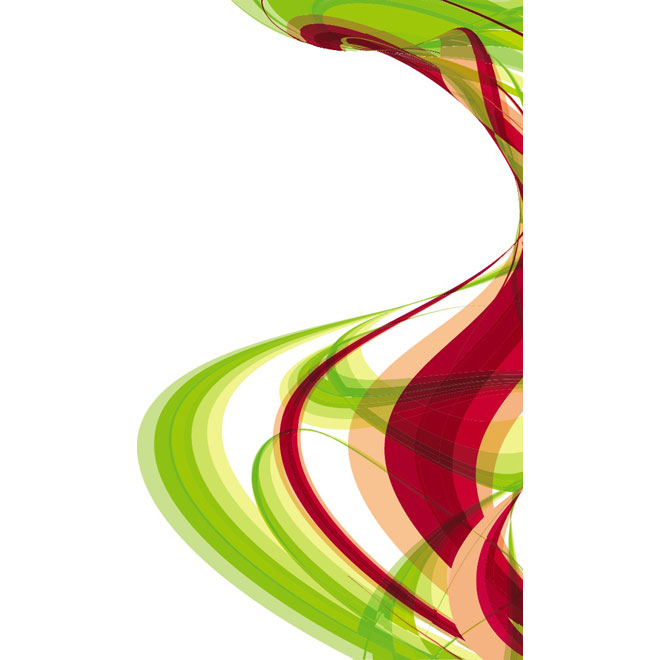 Red Green Swooshes Free Vector