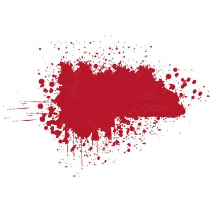 Red Grunge Blot Graphics Free Vector