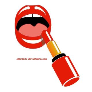 Red Lipstick Graphics Free Vector