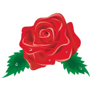 Red Rose Clip Art Image Free Vector