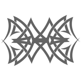 Reflective Tribal Decal Free Vector