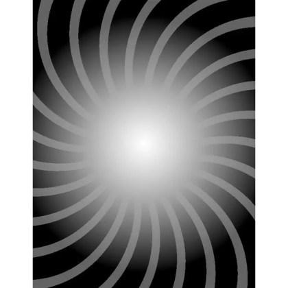 Retro Black Sunbeams Free Vector