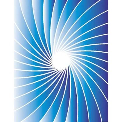 Retro Blue Sunbeam Free Vector