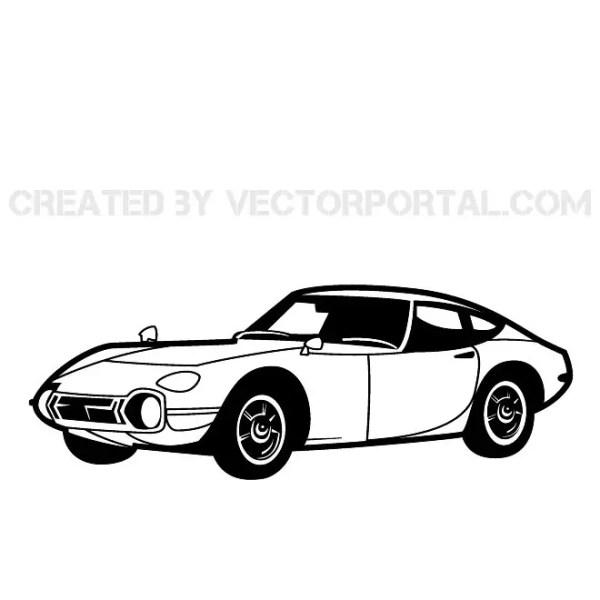 Retro Racing Car Image Free Vector