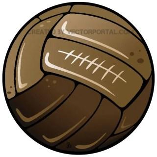 Retro Soccer Ball Free Vector