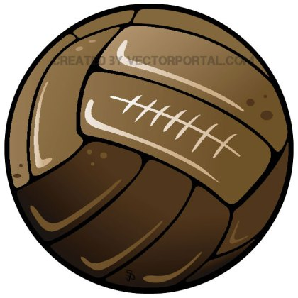 Retro Soccer Ball Free Vector