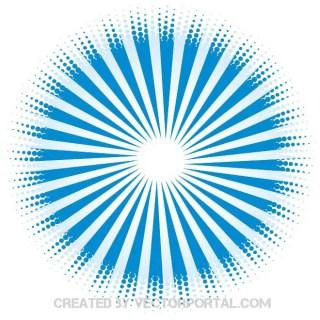 Retro Sun Rays Graphics Free Vector