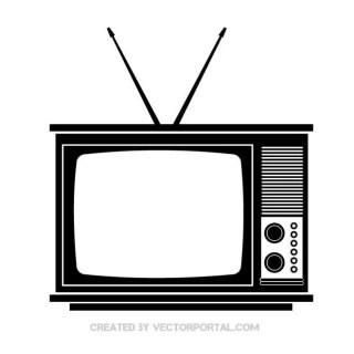 Retro Tv Set Free Vector