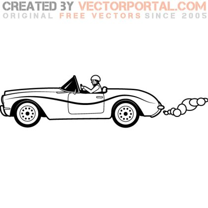 Retro Vehicle Graphics Free Vector