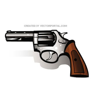 Revolver Gun Image Free Vector