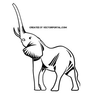 Roaring Elephant Free Vector