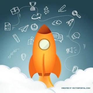 Rocket Lift Off Free Vector