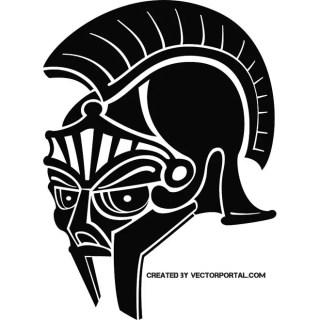Roman Helmet Black Image Free Vector