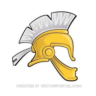Roman Helmet Free Vector