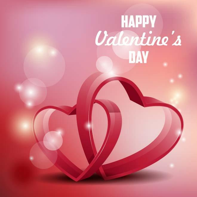 Romantic Love Background Free Vector