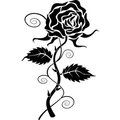 Rose Clip Art 4 Free Vector
