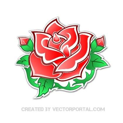 Rose Clip Art Free Vector