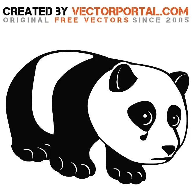 Sad Panda Graphics Free Vector