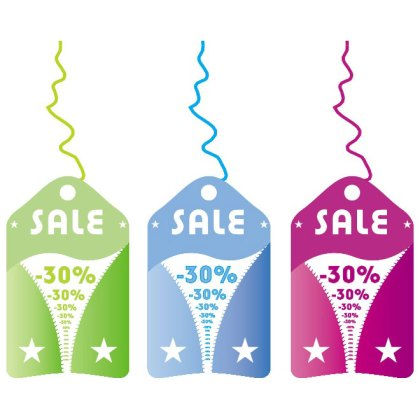 Sale Stickers 2 Free Vector