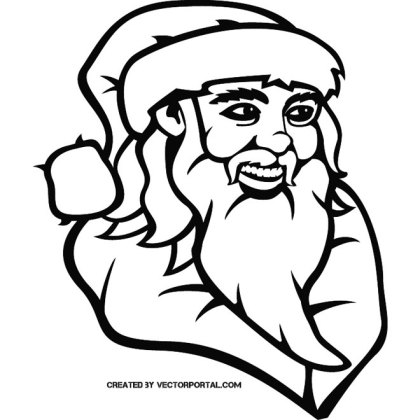 Santa Claus Clip Art Vp Free Vector