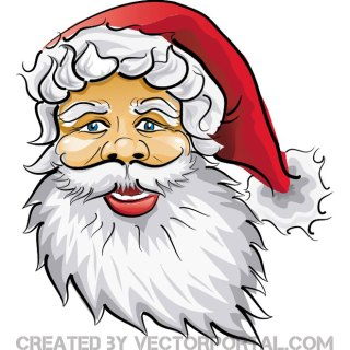 Santa Claus with Big Beard Free Vector