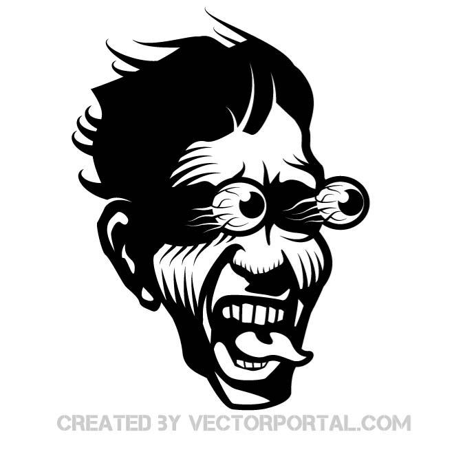 Scared Face Image Free Vector