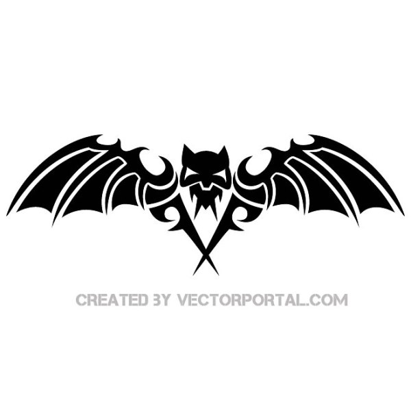 Scary Bat Image Free Vector