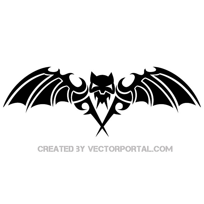 Scary Bat Image Free Vector