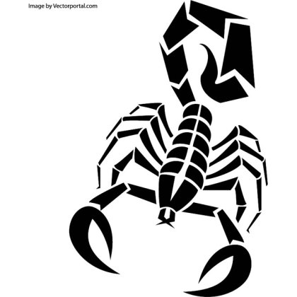 Scorpion Art Free Vector