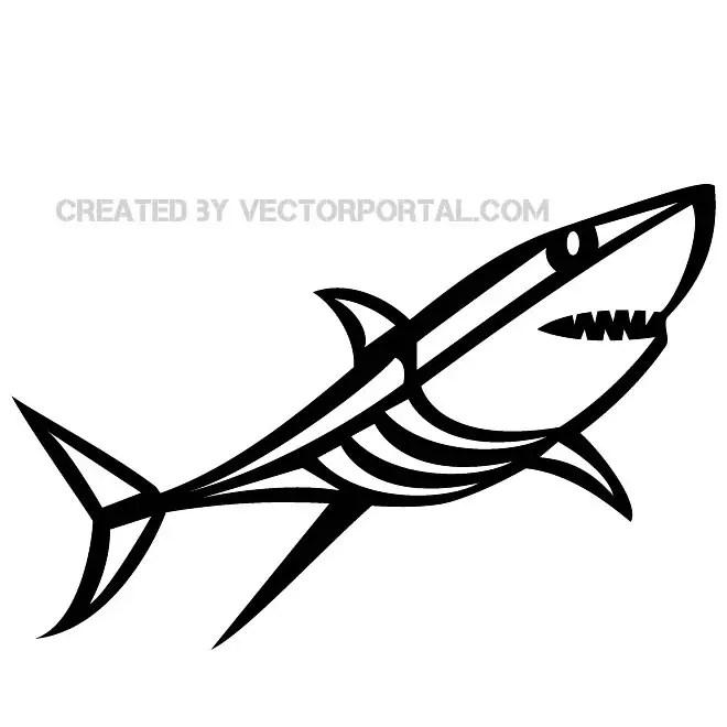 Shark Clip Art Image Free Vector