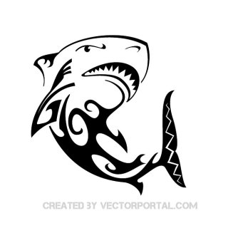 Shark Tattoo Free Vector