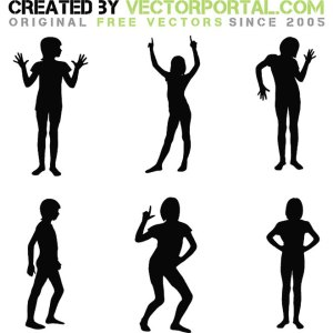 Silhouettes Pack Free Vector