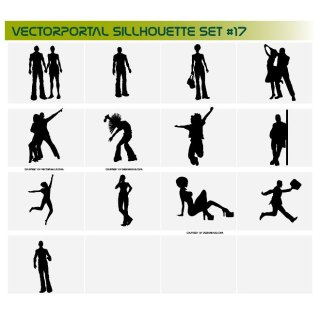 Sillhouette Pack Free Vector
