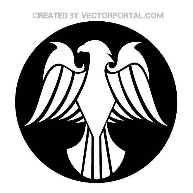 Simple Eagle Drawing Free Vector | 123Freevectors