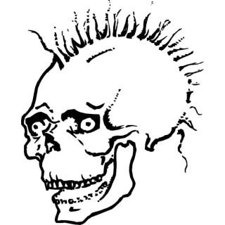 Simple Skull Sketch Free Vector
