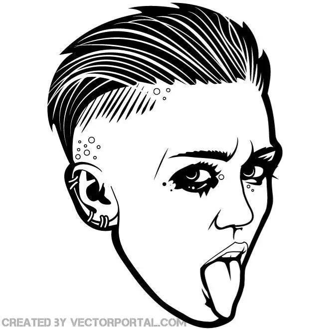 Singer Miley Cyrus Graphics Free Vector