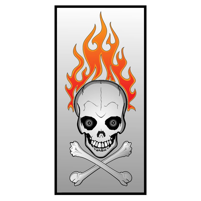 Skull and Fire Free Vector
