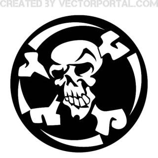 Skull Crossed Bones Free Vector
