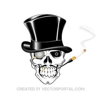 Skull Gambler Clip Art Free Vector