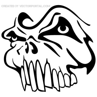 Skull Graphics Free Vector