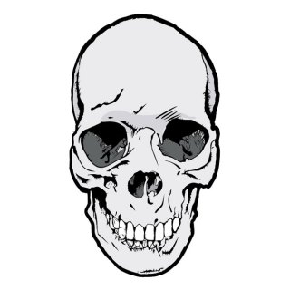 Skull Grey Color Free Vector