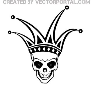 Skull Harlequin Image Free Vector