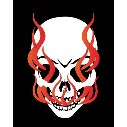 Skull in Flames Image Free Vector