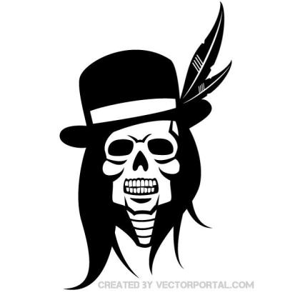 Skull of Indian Chief Free Vector