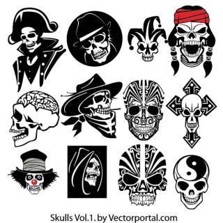 Skull Pack Free Vector