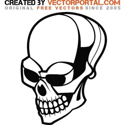 Skull Stock Free Vector