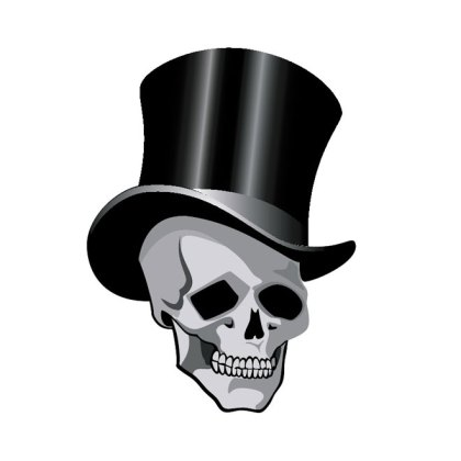 Skull with Hat Image Free Vector